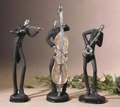 Home Decor Statues Harlem Nights Jazz Figurine Sculpture Statue Home Décor