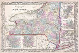 Old Map New York City by File 1867 Mitchell Map Of New York State Geographicus Newyork