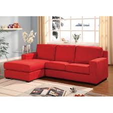 Reversible Sectional Sofas Red Microfiber Multifunction Reversible Sectional Sofa Chase