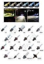 cob led motor bike moped atv hi low headlight bulb fog light drl