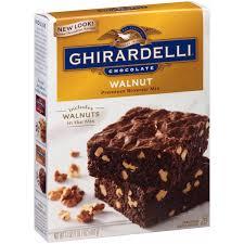 ghirardelli chocolate caramel turtle premium brownie mix 18 5 oz