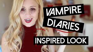 the vampire diaries halloween inspired makeup youtube
