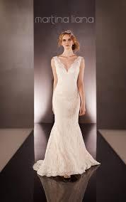 lace over silk long sleeve wedding dress martina liana