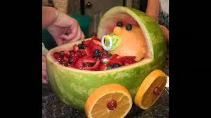 baby shower fruit decoration youtube