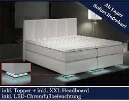 Betten Schlafzimmer Amazon Xxl Boxspringbett Designer Boxspring Bett Led Weiß 200x200
