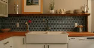 Grout Kitchen Backsplash by Dark Blue Penny Rounds Backsplash Google Search Lakeview