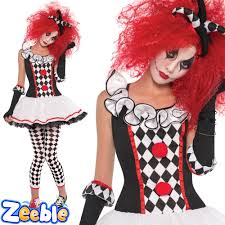 ladies harlequin fancy dress halloween jester costume size 8 16
