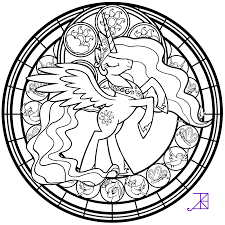 stained glass for adults coloring page free download