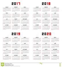 Kalender 2018 Hd Kalender Für 2017 2018 2019 2020 Vektor Abbildung Bild 77985064