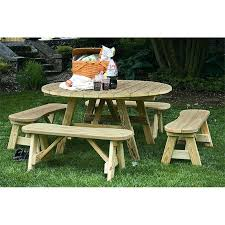 picnic table with detached benches pressure treated pine cross leg