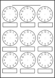 draw hands on the clock face to show the time 4 worksheets