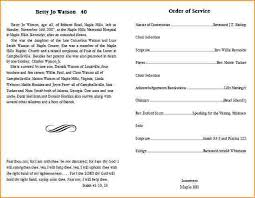template for funeral program funeral program templates questionnaire template