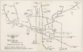 washington dc trolley map historical map washington dc streetcar trackage transit maps