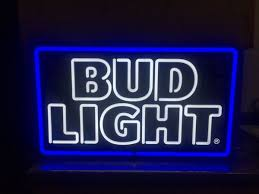 bud light neon signs for sale bud light neon led sign collectibles in ashley pa offerup
