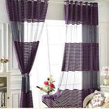 Purple Bedroom Curtains Aliexpress Com Buy American Style Purple Translucidus Tulle