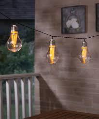 led edison string lights hanging led edison bulb solar powered string lights zulily