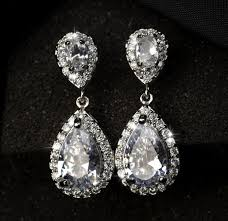 dangle diamond earrings jewelry collection water drop diamond dangle earrings on