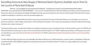 Gamestop Sales Associate New Supply Of Switches At Gamestop For Mk8 Deluxe Nintendoswitch