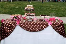 pink and brown baby shower event design company party rental draping