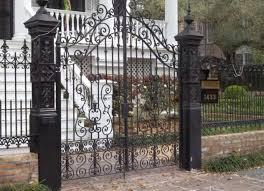 ornamental wrought iron fence designs fences design