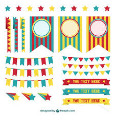 circus decorations graphic elements vector free