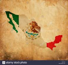 Mexico On A Map by Vintage Map Of Mexico On Grunge Paper Stock Photo Royalty Free