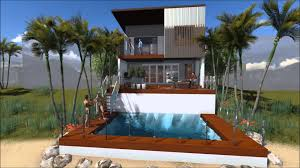 modern house on small lot hope island queensland 3d flyover