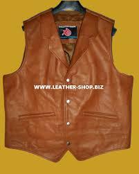 mens leather motorcycle vest leather vest western style mlv84 for sale