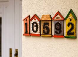 decorative house number signs stun numbers home decor 4 nightvale co