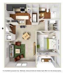 1 Bedroom House Floor Plans Floor Plans Chandler Park Apartment