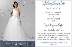 wedding dress sle sales style savvy sle sale the bridal boutique