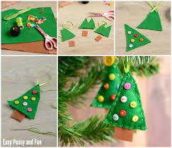 Easy Christmas Tree Decorations Felt Christmas Tree Ornament Easy Peasy And Fun