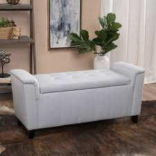 christopher knight home hastings tufted fabric ottoman bench alden tufted fabric armed storage ottoman bench by christopher