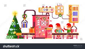 stock vector illustration isolated christmas conveyor stock vector