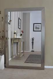 decoration inspiring silver art deco shabby chic wall mirror
