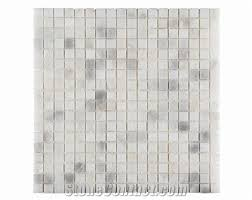 Marble Mosaic Floor Tile White Gray Black Marble Mosaic Tile For Wall Flooring Bathroom