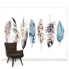 wall murals featured mural wallpaper graham brown couture watercolour feathers mural