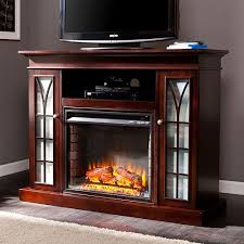 Electric Vs Gas Fireplace by Tv Stands With Fireplaces Fireplace Ideas
