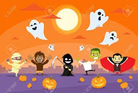 halloween monsters banner card zobmbie vampire ghost death grim