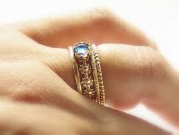 alternative wedding ring unique cut london blue topaz wedding band unique alternative