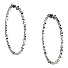 black hoop earrings black rhodium plated silver cubic zirconia hoop earrings free
