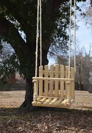 large size pine kids wooden swing backyard outdoor toys