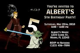 star wars birthday party invitations template free invitations ideas