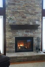 natural stone fireplace designs veneer mountain stack style dark