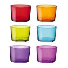 bicchieri colorati bormioli bicchiere bodega mini multicolor 6 pezzi bormioli shop