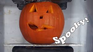 frozen pumpkins crushed by hydraulic press scary halloween