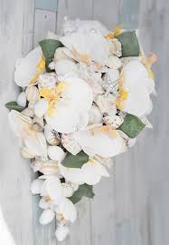 seashell bouquet seashell bouquet white orchids real shells and