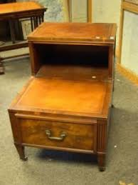 leather top side table search all lots skinner auctioneers