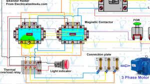 forward motor wiring diagram for 3 phase motor