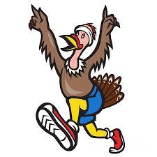 turkey run runner cartoon isolated digital art by aloysius patrimonio